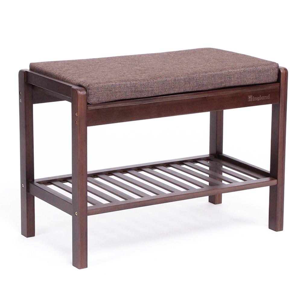Bamboo shoe bench(Walnut)