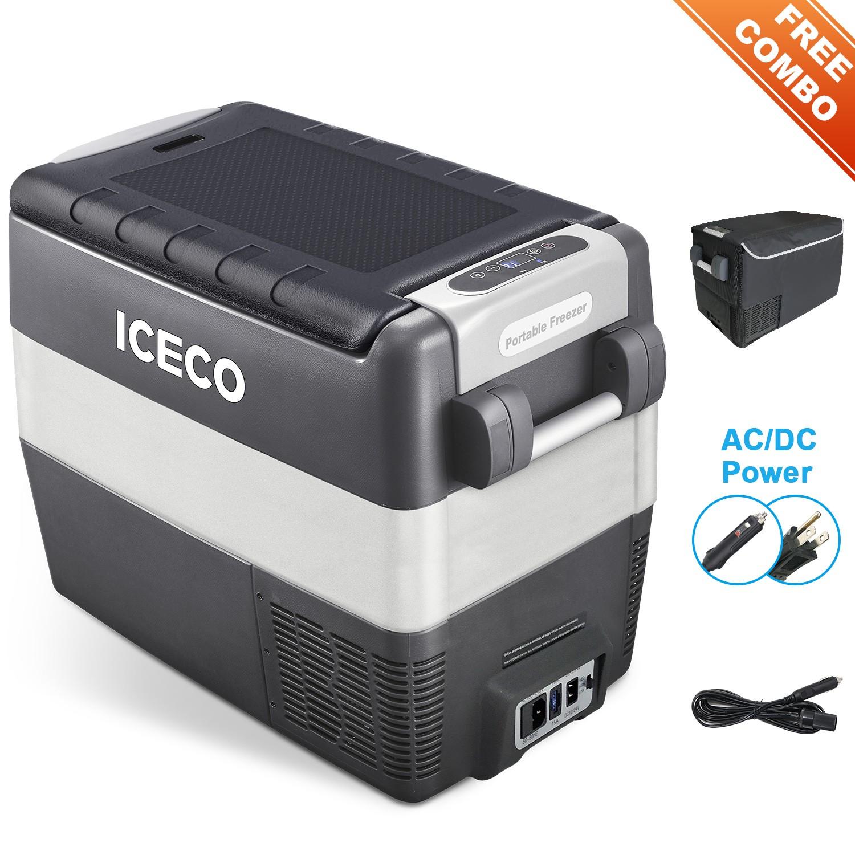 YCD50G(AC+DC)-IMD,深灰箱体/浅灰围框/BD35F+101N0510,12V蓝灯/新后罩,带美式交流线/2.54米直流线/3.5米直流电源延长线/复位拉手/套袋/干燥剂,袋子带警示语/设置华氏温度,(美国亚马逊,ICECO)箱体丝印
