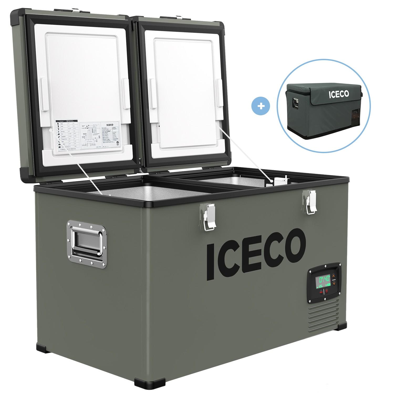 YCD60D(AC+DC),BD50F/101N0510,12V白灯,液晶屏/美式交流线/2.54米直流线/套袋/干燥剂2包,嵌入式拉手/独立双温双控,袋子带警示语/设置华氏温度,(美国亚马逊,ICECO)箱体丝印
