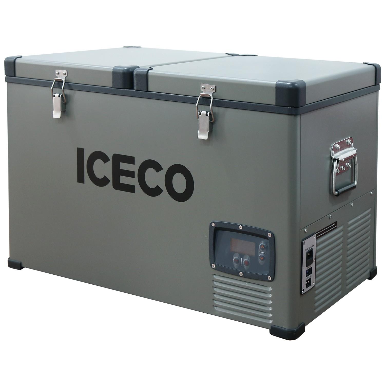 YCD65WY(AC+DC),BD50F/101N0510,12V白灯/液晶屏,带美式交流线/2.5米直流线/干燥剂2包,袋子带警示语/设置华氏温度,独立双温双控(美国亚马逊,ICECO)箱体丝印