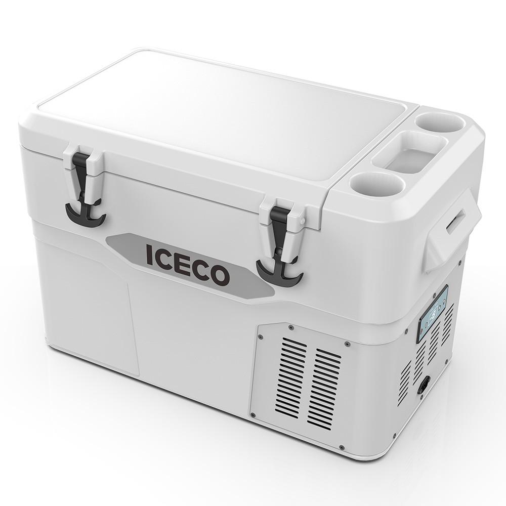 YD42A(DC)-白色,滚塑门体+箱体,BD35F/101N0212,80W适配器/适配器美式交流线/2.5米直流线/干燥剂/除味剂,袋子带警示语/设置华氏温度,(美国亚马逊,ICECO)