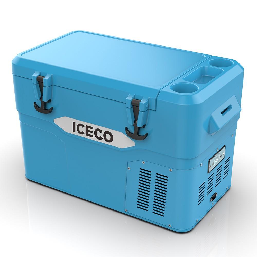 YD42A(DC)-蓝色,滚塑门体+箱体,BD35F/101N0212,80W适配器/适配器美式交流线/2.5米直流线/干燥剂/除味剂,袋子带警示语/设置华氏温度,(美国亚马逊,ICECO)